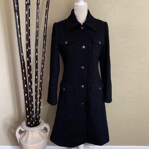 Prague Black Long Dress Coat Size M